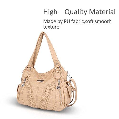Crossbody Beige NICOLE Hobo Woman 2 Bag DORIS amp; Casual Handbag Shoulder wHPzw