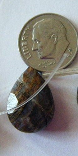 Bead, Multi-colored Quartz (manmade) Gemstone Faceted Top Drill Teardrop Pendant Bead 20mm - ()