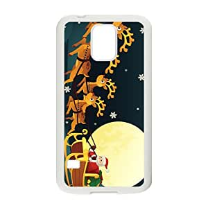 The Flying Santa And Elk Hight Quality Plastic Case for Samsung Galaxy S5