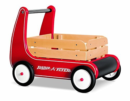Radio Flyer Classic Walker Wagon with Removable Wooden Sides and Molded (Radio Flyer Toddler Wagon)
