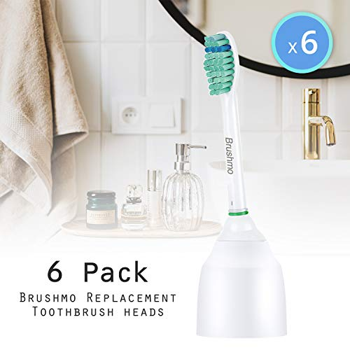 CleanCare Elite Sonimart Standard Replacement Toothbrush Heads Compatible with Sonicare e-Series HX7022 6 Pack Standard fits Sonicare Advance Essence and Xtreme Sonicare Brush Handles
