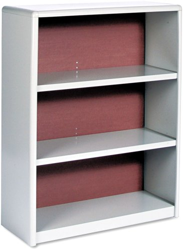 Safco Products 7171GR ValueMate Economy Bookcase, 3-Shelf, Gray