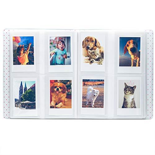 Ablus 128 Pockets Mini Photo Album - Fits for Fujifilm Instax Mini 9 Mini 8 Mini 90 Mini 25, Polaroid Snap PIC-300, Kodak Mini 3-Inch Film (Purple)