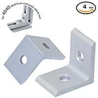 Boeray 2 Hole Inside Corner Bracket for 4040 Aluminum Extrusion Profile 40x40 with Slot 8mm 4pcs by Boeray