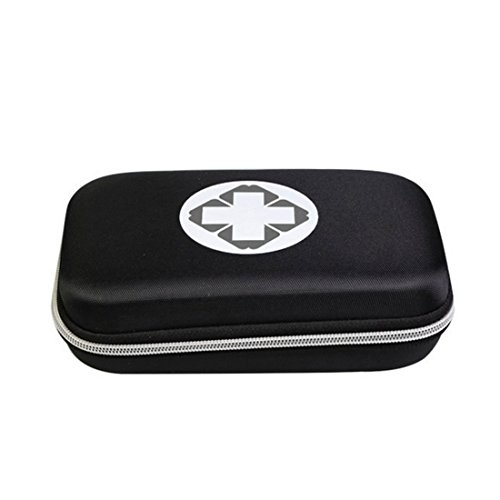 uch Box, Empty Waterproof Medicine Storage Bag Portable Medical Package Emergency Medical Kit Survival Medicine Pills Pocket Container Perfect for Home Car Travel Outdoor (Black) (Empty Black Box)