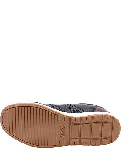 Levis Quinn Ul Calf Mode Sneakers, Zwart, 7 Zwart