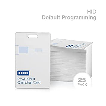 Genuine HID ProxCard II 1326 LMSMV Clamshell Proximity Card for Access Control. Standard 26 bit H10301 Format. (50 Pack, Genuine HID)