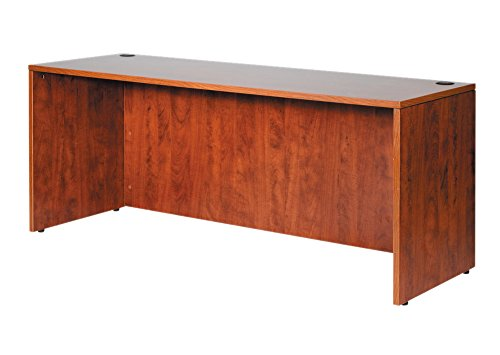 Boss 71 by 24 Credenza Shell, Cherry by Boss Office Products