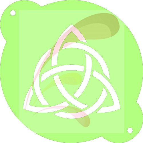 Celtic Knot, Cookie stencil, Cake Stencil, Coffee Stencil, Candy Stencil, Cupcake stencil for Royal Icing, powders, sugars, edible glitters and - Celtic Candy