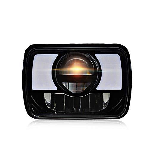 Rectangular 5X7 7X6 Led Hi/Lo Sealed Beam Headlamp DRL Amber Turn Signal Light Replace Hid Xenon Halogen H6054 Headlights Jeep Wrangler Cherokee Xj Yj Jk 4X4 Toyota Tacoma Pickup Dodge Ram W250 Van RV ()