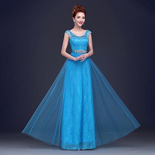 Ice bleu M JKJHAH Robes De Mariée Rouge Robes De Soirée Lace Girls