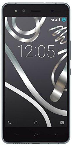 bolsa del cinturón / funda para BQ Aquaris X5, negro + Auriculares | caja del teléfono cubierta protectora bolso - K-S-Trade (TM)