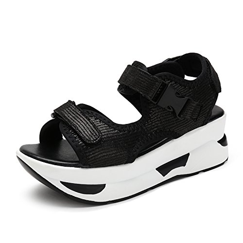 Black Summer Increase 32 Bottom Lin Female Leisure With 41 The Code Sponge Movement 33 43 The Xing Size Sandals New 31 Shake To Leather Slope Sandals Thick Small The Of TxqwCYv