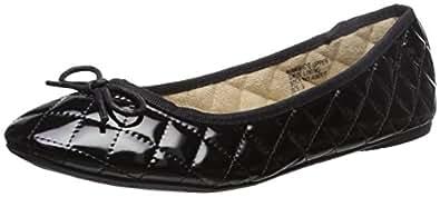 Alpine Swiss Women's Black Patent Leather Aster Slip On Ballet Flats 5 M US