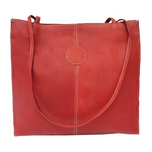 Piel Leather Bag Medium Mercato, Rosso, un formato rosso