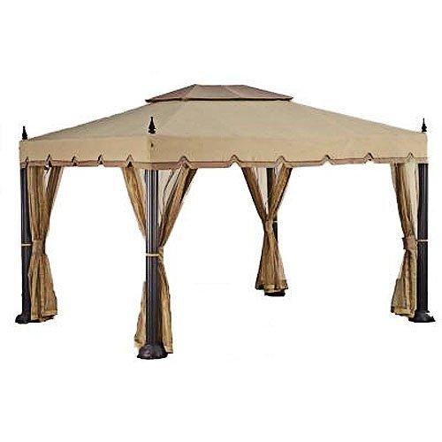 Garden Winds Replacement Canopy Netting Set for Home Depot s Mediterra Gazebo, RipLock