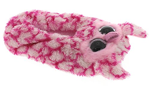 4-6 Ty Beanie Boos Little Girls Slipper Socks GLAMOUR Pink//Purple Leopard, Large