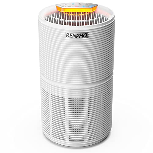RENPHO HEPA Air Purifier for Home Pet Hair and Allergies, H13 True HEPA Air Filter Cleaner for 99.97% Smokers, Odors…