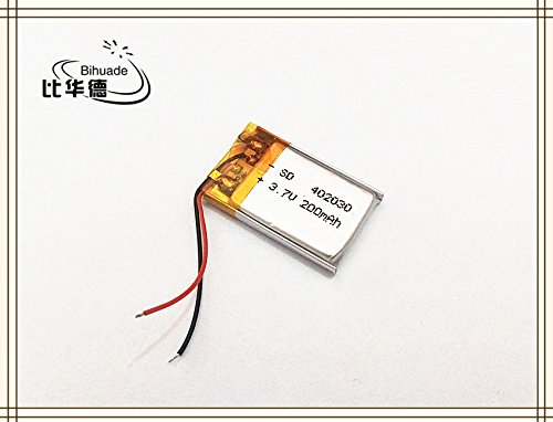 BIHUADE 3.7V 402030 200mah Lithium Polymer Li-Po Rechargeable Battery For DIY Mp3 MP4 MP5 GPS