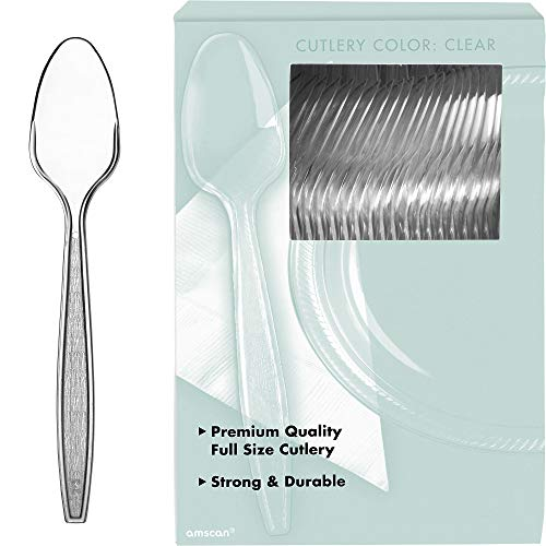 Amscan Big Party Pack Plastic Spoons, One Size, Clear from Amscan