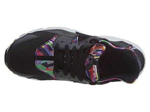 Nike Big Kids Hardloopschoenen Met Huaracheprint, Zwart / Hyper Violet Zwart / Zwart-hyper Violet