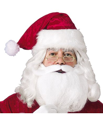 (Santa Hat with Beard and Glasses Costume)
