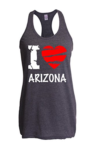 Ugo I Love Arizona AZ Phoenix Map Flag Home of Arizona State University ASU Women's Next Level Racerback - Stores Az Outlet Phoenix
