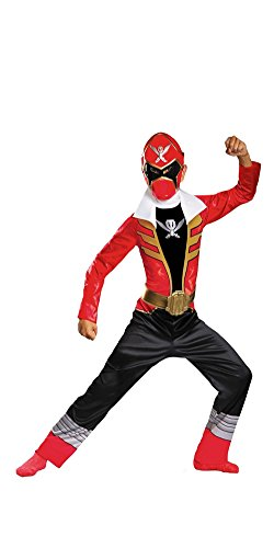 Disguise Saban Super MegaForce Power Rangers Red Ranger Classic Boys Costume, (Trio Halloween Costumes For Girls)