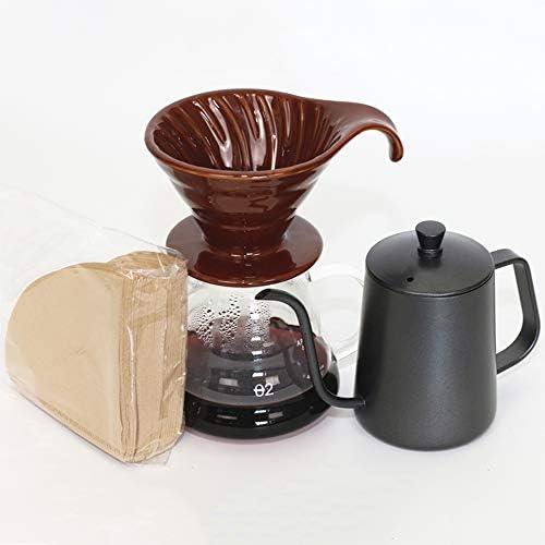 Juego De Cafetera, Juego De 4 Con Filtro De Café Y Papel De Filtro 600 Ml: Amazon.es: Hogar