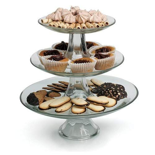 - Anchor Hocking 3-Tier Presence Platter Set