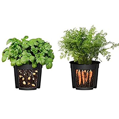 TOMAT 2 in 1 Double Layer Planting Pots, Potato Planting Bucket Plant Growing Pot Tomato Vegetable Growing Bag Home Garden Seedling Pot : Garden & Outdoor