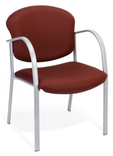 OFM 414-63-BURGUNDY Reception Chair with Arms - Fabric Guest Chair, Burgundy