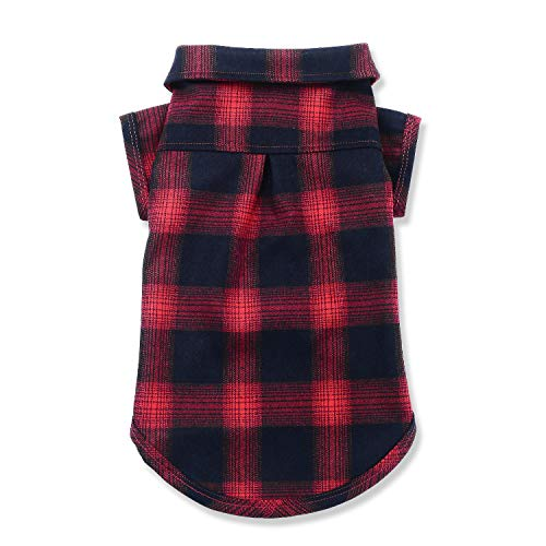 Koneseve Dog Shirt, Pet Plaid Polo Clothes Shirt T-Shirt, Sweater Bottoming Shirt for Small Dog Cat Puppy Grid Adorable Wearing Stylish Cozy Halloween,Christmas Costumes {Red;XS/Extra Small}