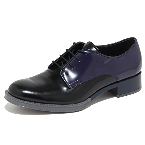 TOD'S Blu scarpe donna nero 6361N Nero woman blu scarpe shoes allacciate qxZfEwUA