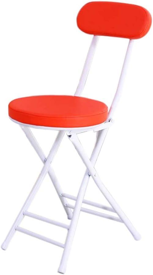 Salon Cuisine chambre Couleur : White Chaise de dossier pliante /à la mode Chaise simple portable ++ Chaise de salle /à manger HYX005 Dortoir Chaise