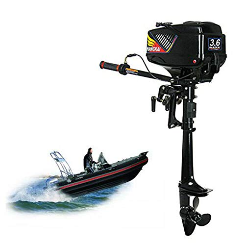 Boat Motor,2-Stroke 3.6HP Outboard Motor Fishing Boat Engine 55CC CDI & Water-Cooling 2.6kW(Shipping from USA)