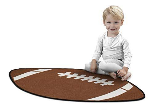 Delta Children Non-Slip Area Rug for Boys, Football