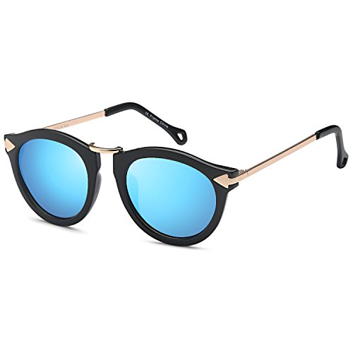 7bfb019f3c CATWALK UV400 Womens Round CatEye Sunglasses with Design Fashion Frame and  Flash Lens Option