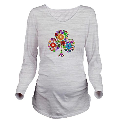 CafePress - klavertje 4 Long Sleeve Maternity T-Shirt - Long Sleeve Maternity T-Shirt, Cute and Funny Pregnancy Tee