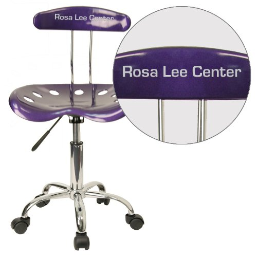 "Personalized Vibrant Violet And Task Chair With Tractor Seat Purple/Chrome/16.5""L x 17""W x 34.75""H"