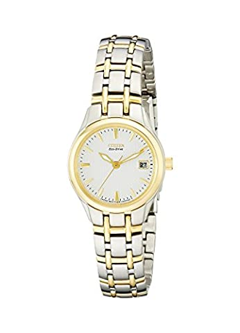 Citizen Women's EW1264-50A Eco-Drive Silhouette Two-Tone Stainless Steel Watch - Citizen Eco Drive Silhouette