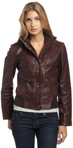Cole Haan Women's Vintage Lamb Bomber Jacket