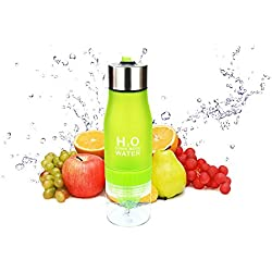 650 ml Fruit Infuser Water Bottle H2o Drink More Water Outdoor Sport Bottles - BPA Free ( green )
