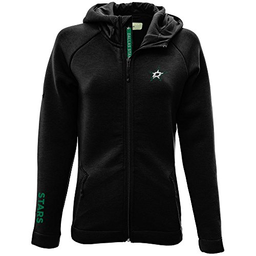 Levelwear LEY9R NHL Dallas Stars Adult Women Motion Insignia Bold Full Zip Hooded Jacket, Medium, Black