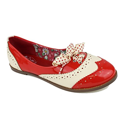Ballerinas Sneakers Dancing Milana Rot von Rot Banned Oxford Rockabilly Days Y0p0qwrX