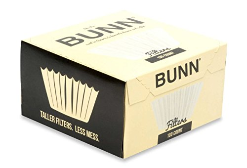 BUNN BCF100-B 100-Count Basket Filter ,White ,2 pack (packaging may vary)