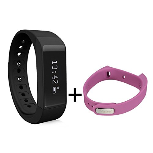 Smart Bracelet,ELEGIANT I5 Plus Waterproof Bluetooth 4.0 Sports Bracelet Pedometer Tracking Calorie Health Wristband Sleep Monitor For Samsung Andriod Smart Phones + Sports Bracelet Band Black