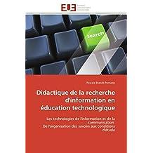 DIDACTIQUE DE LA RECHERCHE D INFORMATION EN E