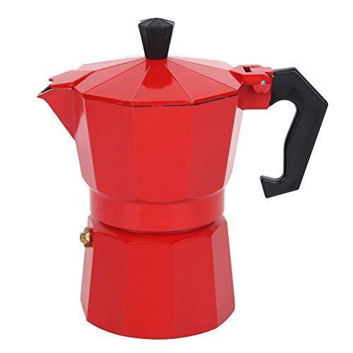 Cafetera de espresso en la estufa Moka Pot, 300 ml 6 tazas Cafetera con superficie de estufa Moka Espresso italiano…