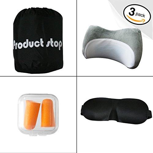 Cooling Gel Memory Foam Neck Amp Travel Pillow Kit 3d